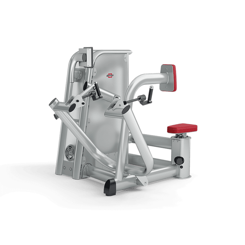 Im 4E Zirkel im balance Fitnessstudio wird an der Rudermaschine der Rücken gekräftigt.