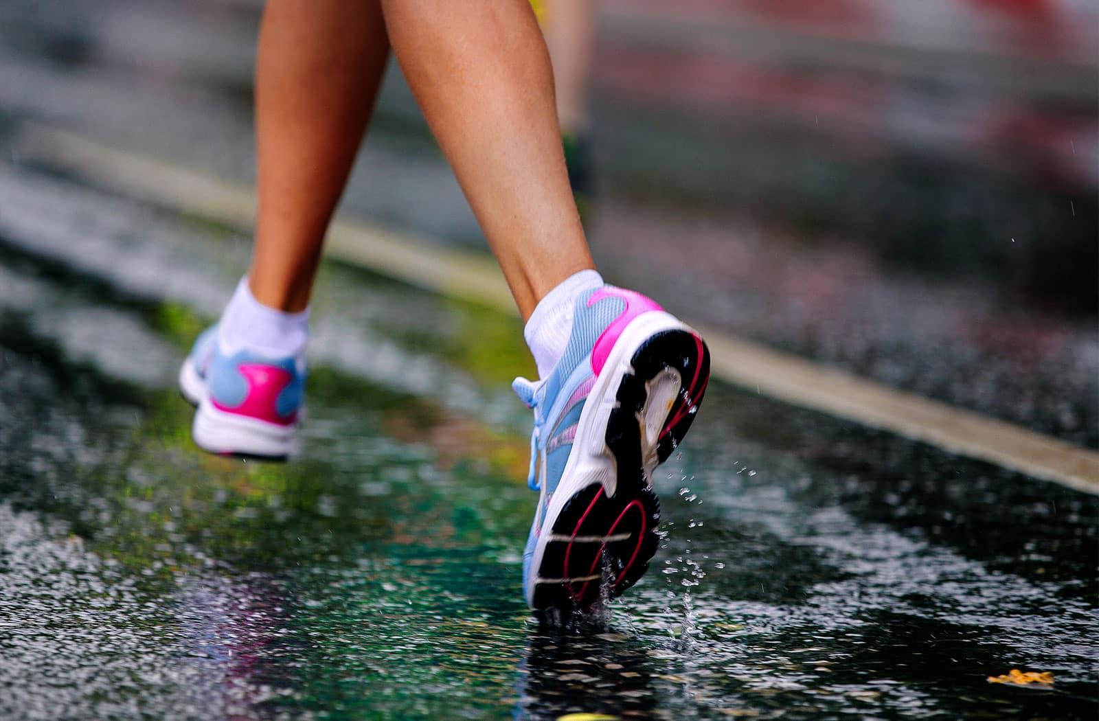 Bei fast jedem Wetter startet der wöchentliche Lauftreff vor dem Studiogelände der balance Fitnesslounge zum gemeinsamen Joggen.